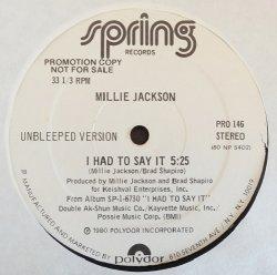 """画像1: Millie Jackson - I Had To Say It  12"""""""